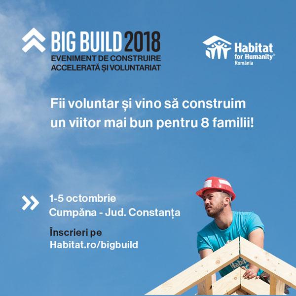 Fii voluntar la BIG BUILD 2018