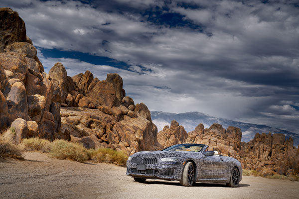 Hot climate test of the all-new BMW 8 Series Convertible