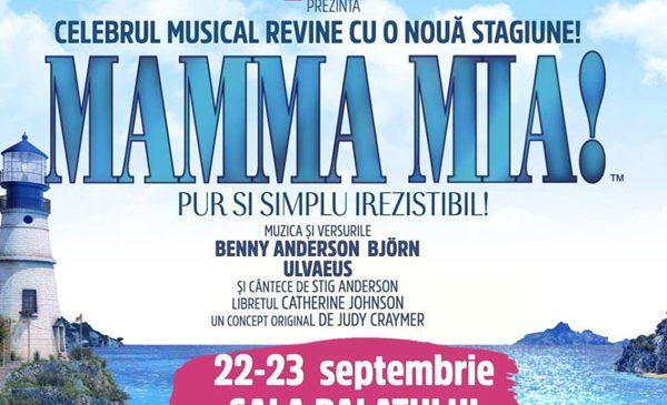 """""""MAMMA MIA!"""" se întoarce pe scena Sălii Palatului cu cea mai frumoasă poveste a anului, pe versuri inspirate din repertoriul ABBA"""