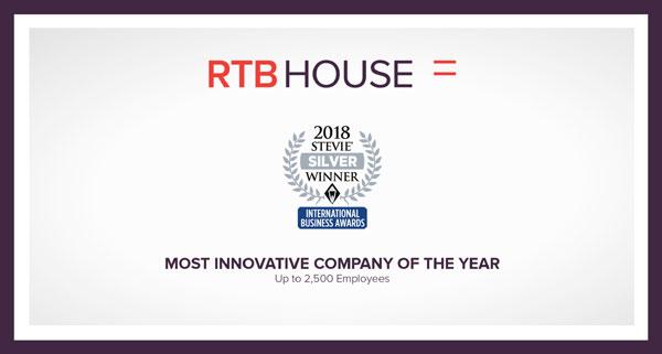 RTB House câștigă premiul Silver Stevie pentru inovație