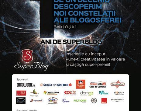 Competiția de blogging creativ SuperBlog împlinește 10 ani