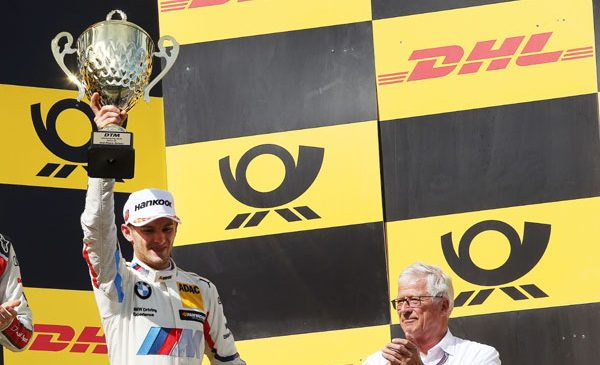 Marco Wittmann urcă pe podium în cursa 100 pentru BMW de la revenirea în DTM în 2012 – Spengler s-a clasat al doilea în cursa de sâmbătă de la Nürburgring