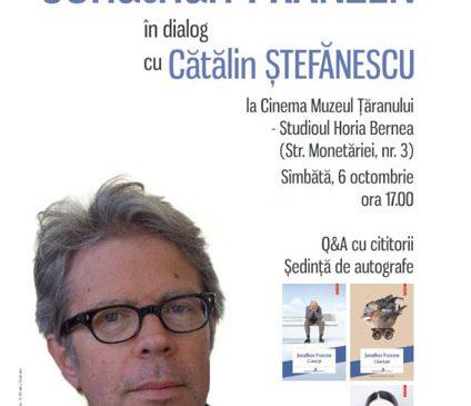 Jonathan Franzen în dialog cu Cătălin Ștefănescu la Cinema Muzeul Țăranului