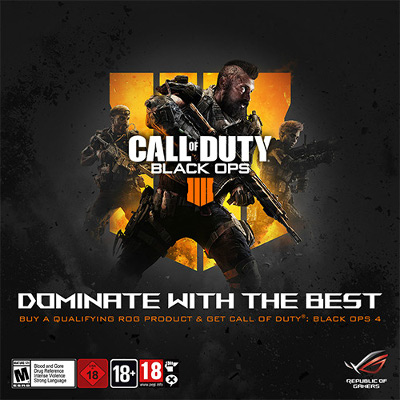ASUS Republic of Gamers anunță parteneriatul cu Activision pentru Call of Duty: Black Ops 4