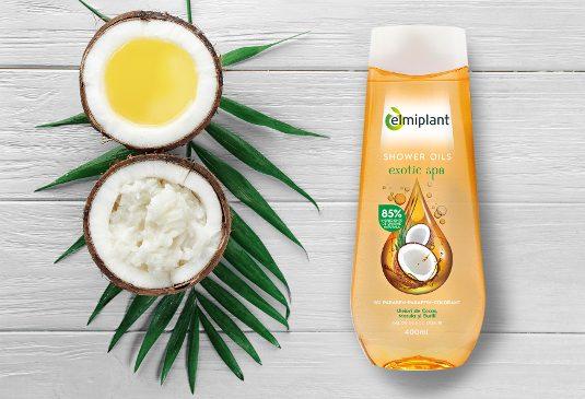 Noile geluri de duș elmiplant Shower Oils cu uleiuri esențiale îți lasă pielea moale și fină ca mătasea