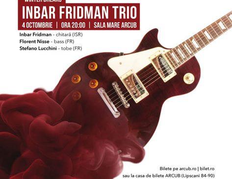 Jazz la chitară în concertul Inbar Fridman Trio de la ARCUB