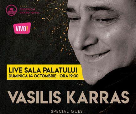 Melodiile grecești care fac deliciul celor mai reușite petreceri vor răsuna la Sala Palatului în concertul celebrului artist grec VASILIS KARRAS