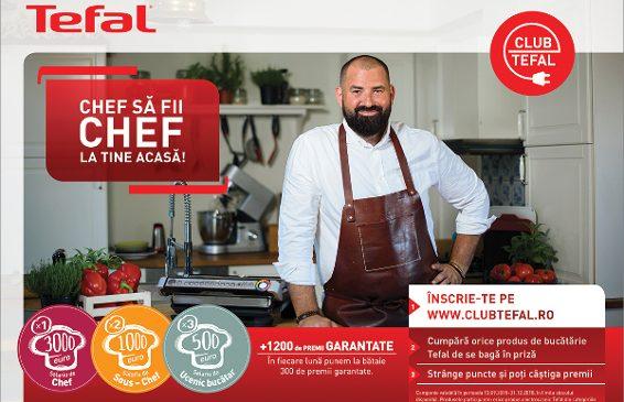Înscrie-te în Club Tefal, acumulează puncte și alege-ți  produsele din catalog