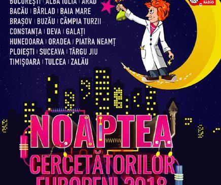 Noaptea Cercetătorilor Europeni din acest an va fi sărbătorită în peste 20 de orașe din România