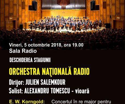 Alexandru Tomescu deschide noua stagiune de la Sala Radio