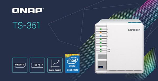 QNAP consolidează linia de servere NAS cu 3 sertare prin lansarea modelului TS-351