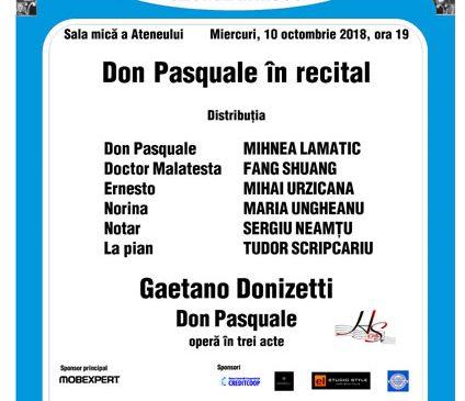 Don Pasquale în recital
