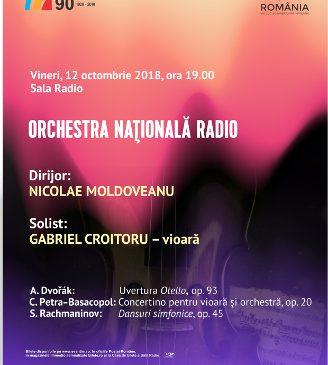 Gabriel Croitoru va cânta pe vioara lui George Enescu, la Sala Radio