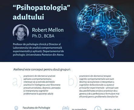 """Premieră în România: Primul workshop """"Psihopatologia"""" adultului are loc la București"""