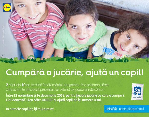 Campanie UNICEF Lidl