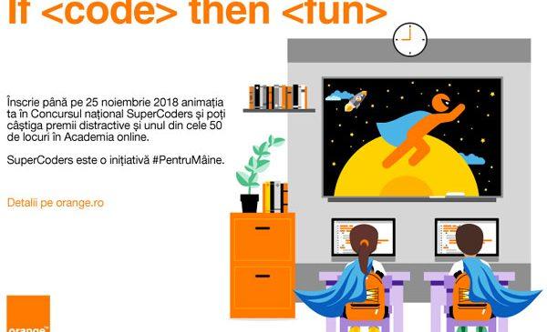Tânăra generație de programatori trece la nivelul următor: începe Concursul național SuperCoders