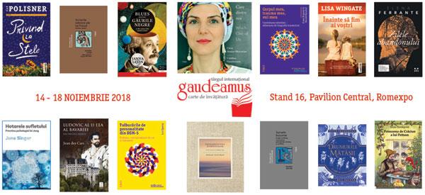 Noutățile Grupului Editorial Trei la Gaudeamus 2018