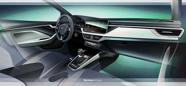 ŠKODA SCALA are un interior nou