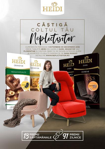Vizual campanie Heidi by FCB, Castiga un colt neplictisitor