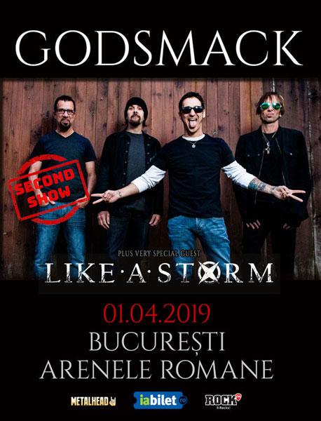 afis Godsmack 1 aprilie