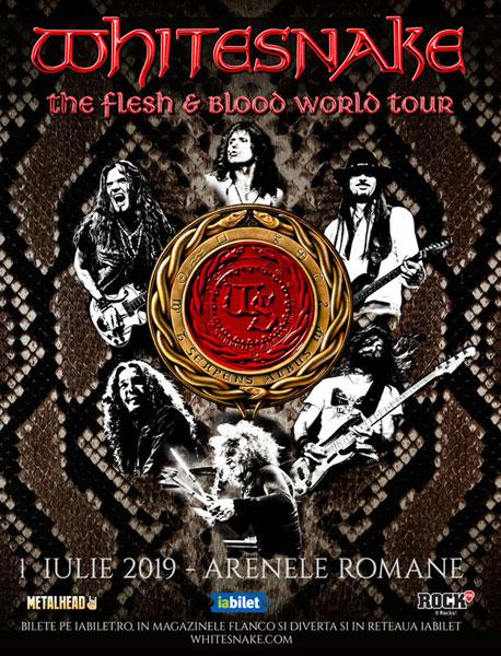 afis Whitesnake 1 iulie 2019