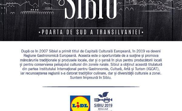 Lidl celebrează parteneriatul cu Sibiu – Regiune Gastronomică Europeană 2019 prin lansarea Săptămânii Sibiene în magazinele sale din toată țara