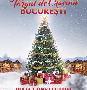 Moș Crăciun vine la Târgul de Crăciun București din Piața Constituției