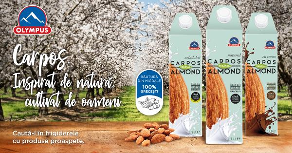 Olympus introduce în portofoliul de produse Carpos, o nouă gamă de băuturi 100% vegetale