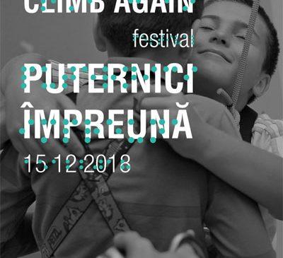 Festivalul Climb Again – cel mai mare eveniment dedicat includerii prin escaladă a copiilor cu dizabilități