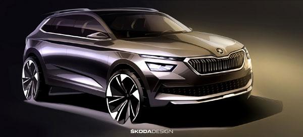 Primele schiţe ale modelului ŠKODA KAMIQ: indicii cu privire la designul noului SUV urban