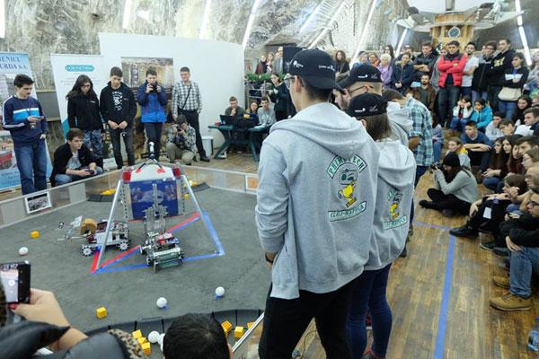 meciuri demonstrative de robotica, Timisoara