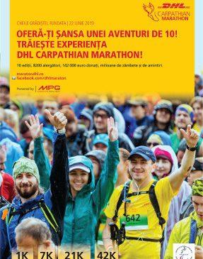 DHL Carpathian Marathon oferă șansa unei aventuri de 10, la ediția aniversară cu numărul 10