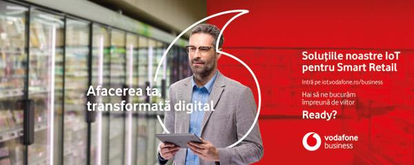 Soluțiile inteligente IoT ale Vodafone România sprijină companiile de retail în procesul de transformare digitală
