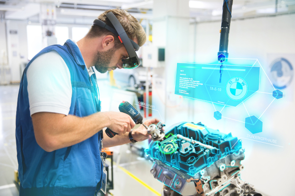 AR based training at the BMW Group Production Academy engine assembly