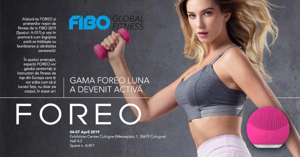 FOREO prezinta pasionatilor de fitness de la FIBO legatura dintre ingrijirea pielii si auto-ingrijire