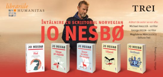 Celebrul scriitor norvegian Jo Nesbø vine în România