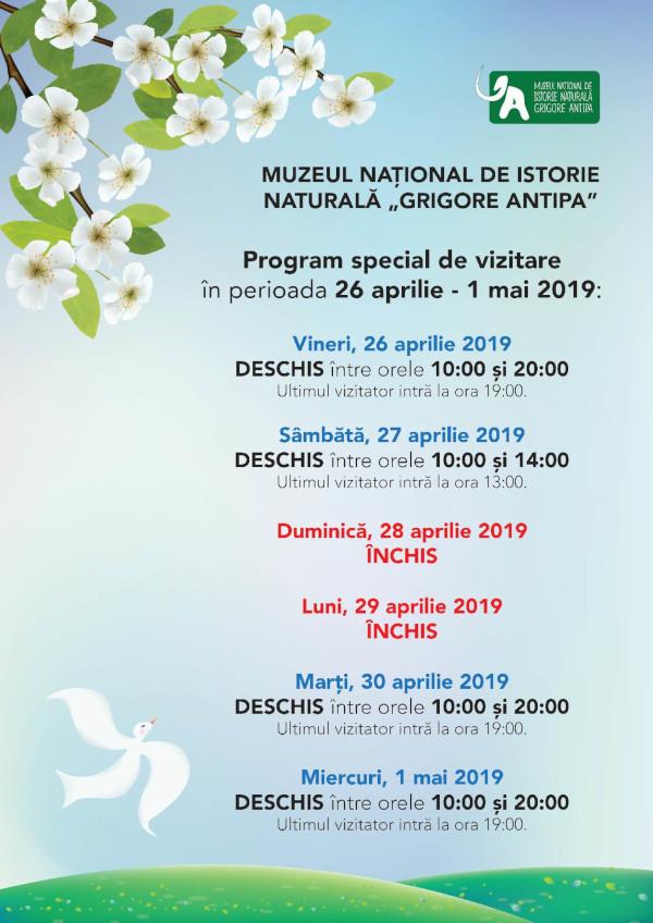 Program Sarbatori Muzeul Antipa