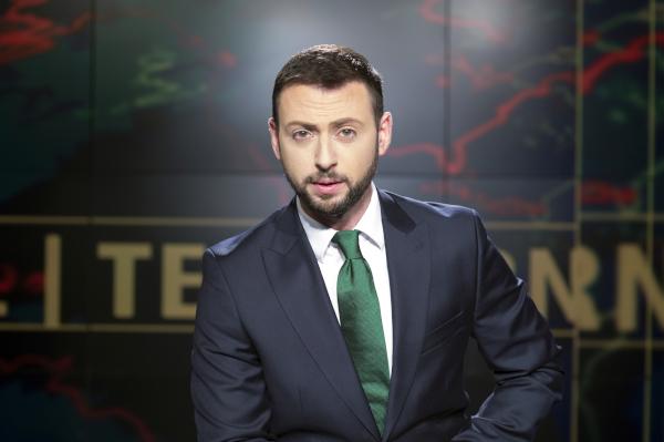 Radu Andrei Tudor prezinta Telejurnalul TVR 1 8998