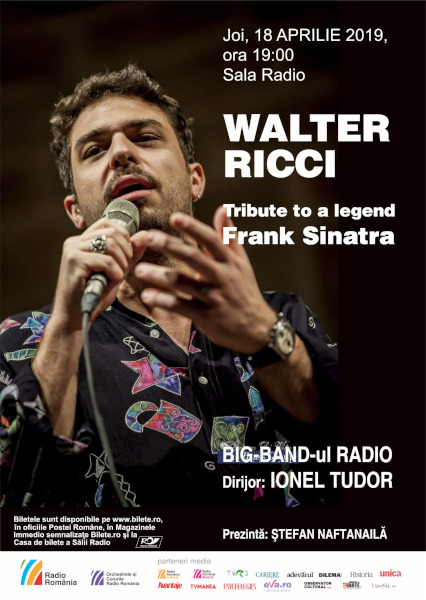 afis 17 aprilie Big Band si Walter Ricci, Tribute to Frank Sinatra