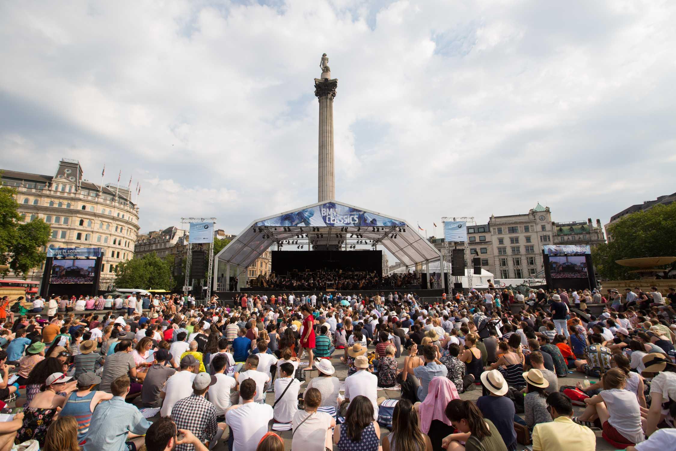 concert in aer liber BMW CLASSICS, Trafalgar Square