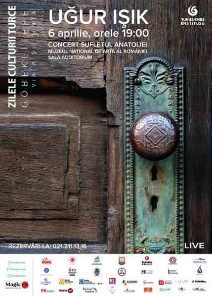 Concert Uğur Işık – 6 aprilie, ora 19:00, Muzeul Național de Artă al României - Sala Auditorium