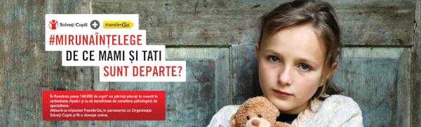 TransferGo și Organizația Salvați Copiii lansează o campanie de donații adresată copiilor ai căror părinți lucrează în străinătate