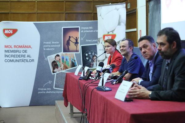"""MOL România si Asociația Inima Copiilor - heliport pe acoperișul Spitalului Clinic de Urgență pentru Copii """"M. S. Curie"""""""