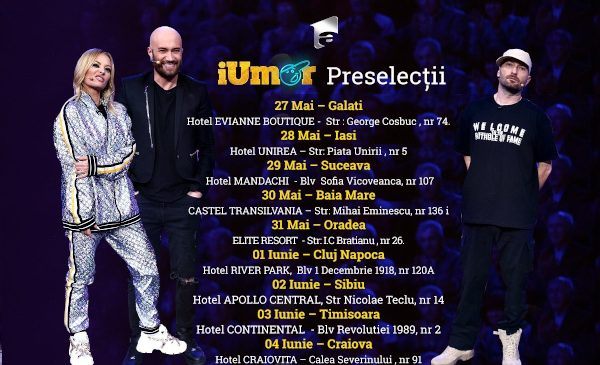 """""""iUmor"""" începe preselecțiile în țară pentru cel de-al șaptelea sezon, la Antena 1"""