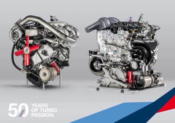 50 years of turbo passion. comparison BMW P48 Turbo engine si BMW M121 Turbo engine