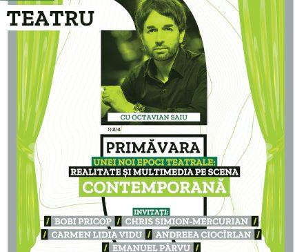 Provocare, realitate și multimedia, la Anotimpurile dialogului despre teatru cu Octavian Saiu pe scena Teatrelli