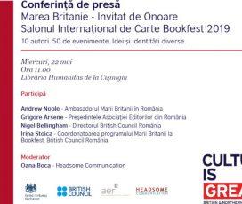 Conferinţă de presă – BOOKFEST 2019 și programul țării invitate de onoare, Marea Britanie