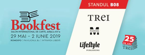 Editura Trei sărbătorește 25 de ani la Bookfest 2019