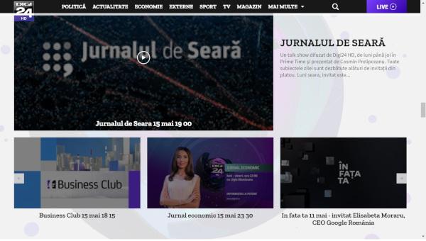 Site-ul digi24.ro, într-o nouă versiune, cu un design versatil și conținuturi structurate intuitiv