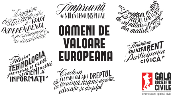 Oameni de Valoare Europeană la Gala Societăţii Civile 2019